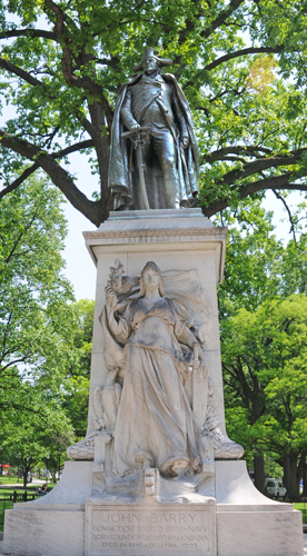 Commodore John Barry Monument - Franklin Square Park - Washington, DC