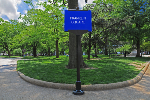 Franklin Square Park - Franklin Square Sign Located Near the Intersection of 14th and K Streets, NW