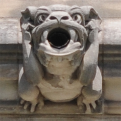 Gargoyle Located Beneath the Space Window - Viewed from Front
