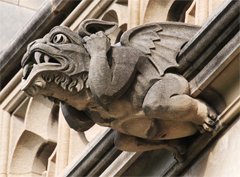 Gargoyle Located Beneath the Space Window - Viewed from Side