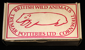 Circle Drawing Box - This box shows the badger from the British Wild Animal Series on the Circle (or in this case Oval) Drawing Box.