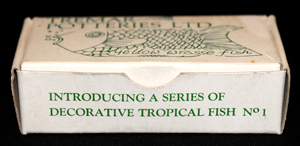 Early Open Drawing Box - The text on the front of the box identifies this box as one Introducing A Series of Decorative Tropical Fish.