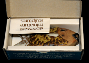Open Drawing Box with Yellow Wrasse Fish Inside
