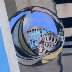 Dupont Circle Mural - Close Up of Mirror Ball From the Upper Right of the Mural