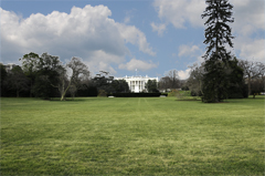 White House - View of the South Side and the South Lawn from E Street NW