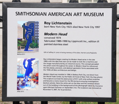 Modern Head - Smithsonian Informational Sign