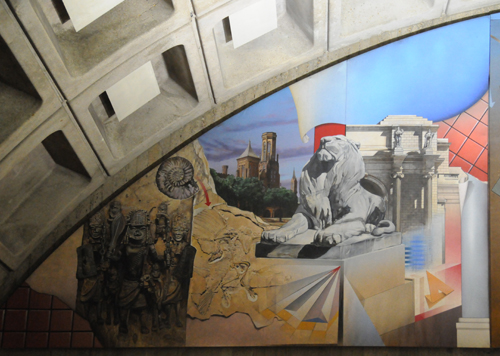 Mural at Metro Center - Triangular Portion at Left