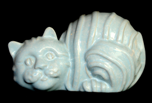 Shelf Pottery or Shelf Concept - Cat Money Box/Piggy Bank in Pastel Blue