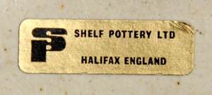 Shelf Pottery Ltd - Shelf Pottery Label on Back of School Lamp