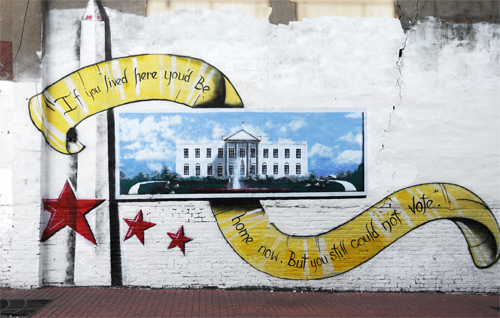 Wall Painting - White House in Adams Morgan